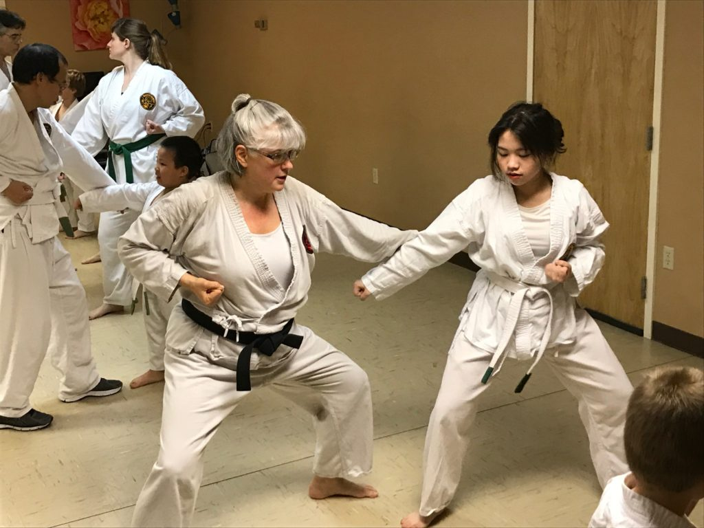 Sempai Tracie teaches defensive fighting skills