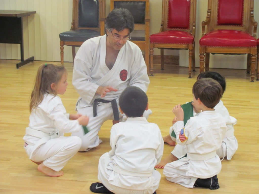 Kyoshi Kaplan works with the youngest kids