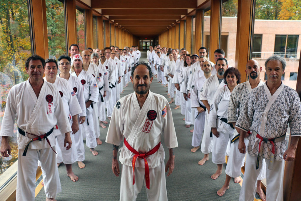 Hanshi Scaglione with Black Belts in Palisades, NY