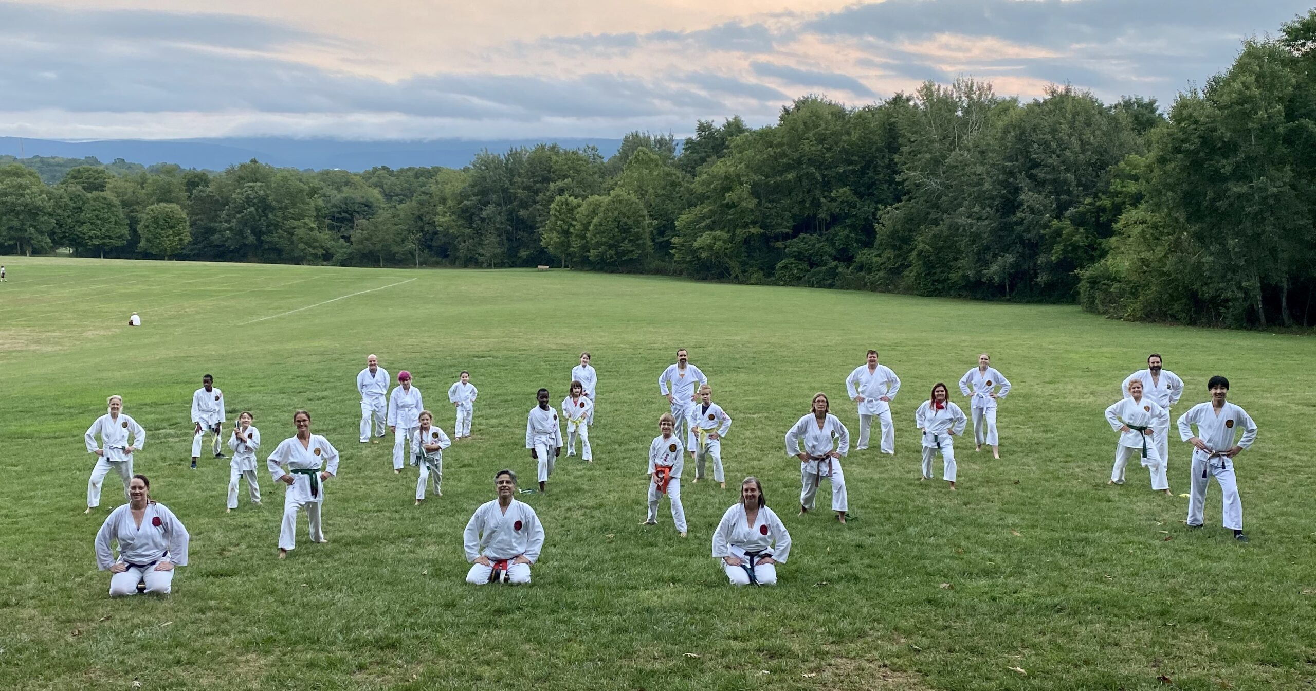 Our Tudek Park outdoor workout and belt test, Sept 2020